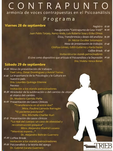 Congreso Psicoanálisis Trieb 2012