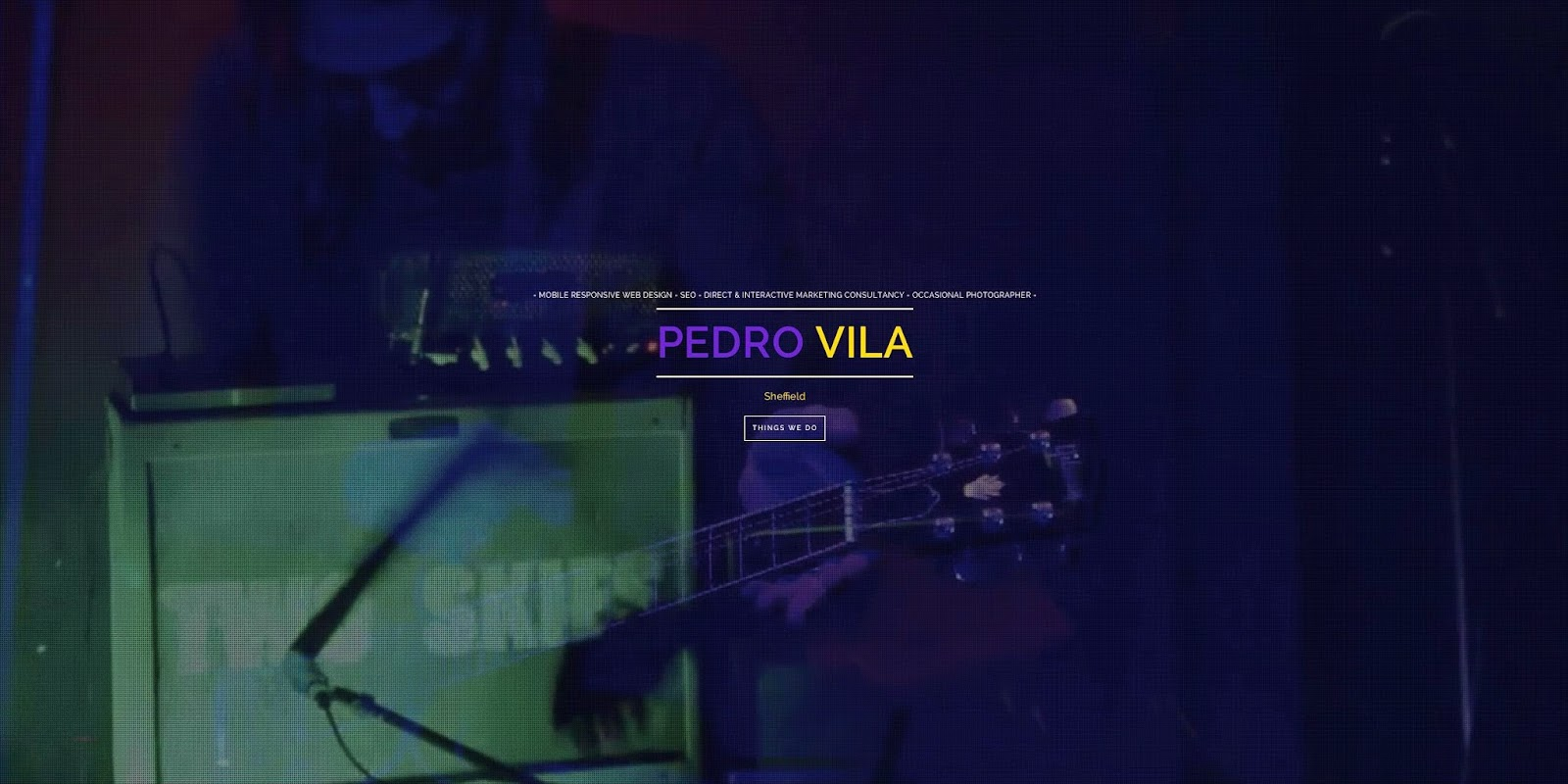 Pedro Vila Web Design Sheffield