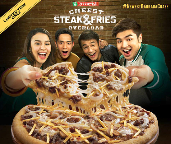CHEESY STEAK AND FRIES OVERLOAD, the #NewestBarkadaCraze at GREENWICH