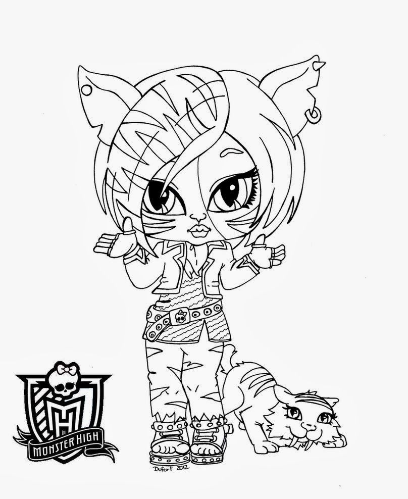 Monster High Bebes para Colorear, parte 1