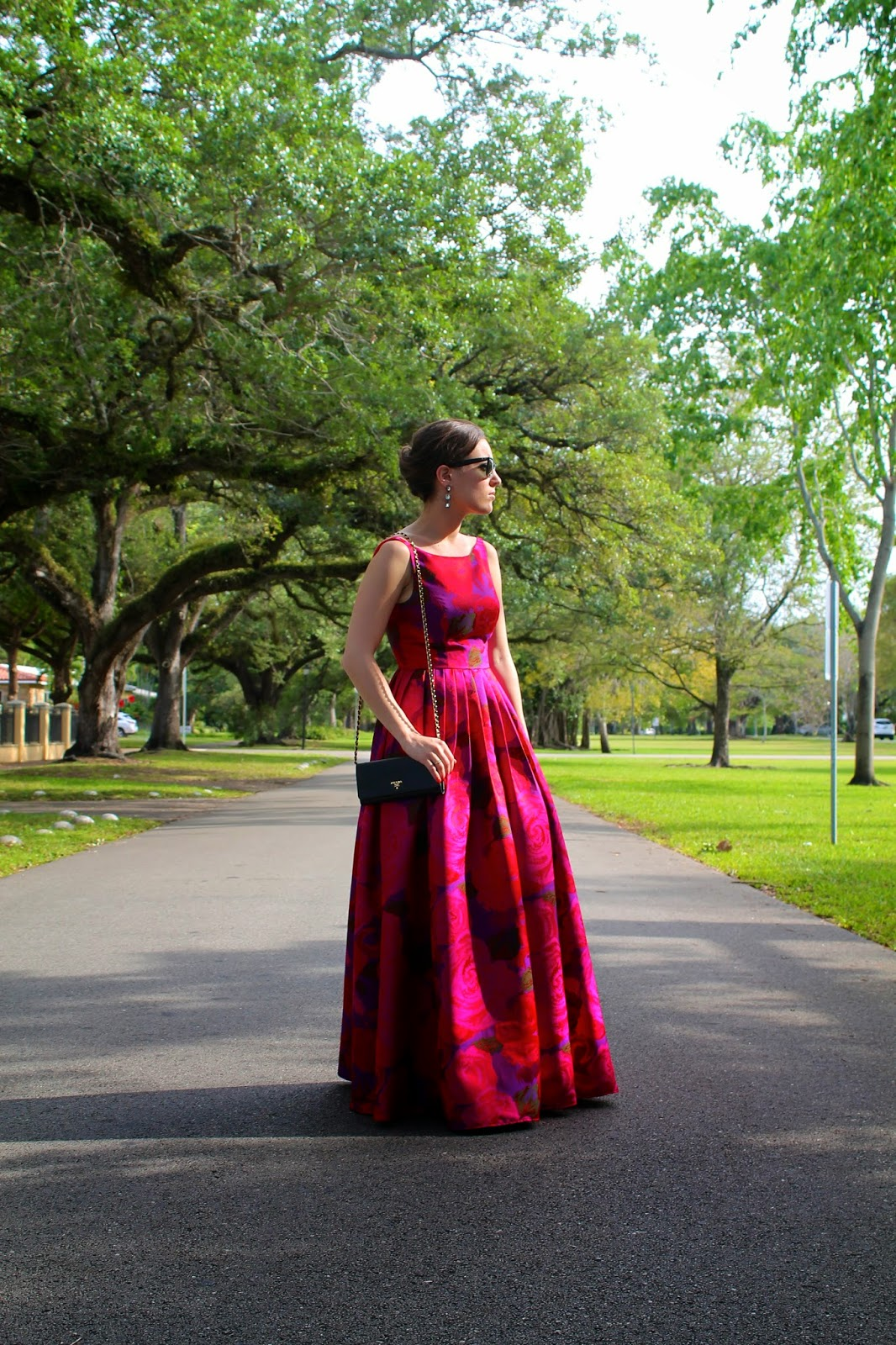Adrianna Papell, White House Black Market, Anthropologie, Ray-Ban, Prada, gowns, black tie, formal wear, ball gowns, evening wear, outfit ideas, fashion blog, style blog, fashion blogger
