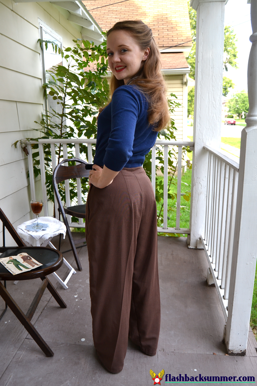 Flashback Summer: 1940s Trouser Pants Pattern, Simplicity 4362