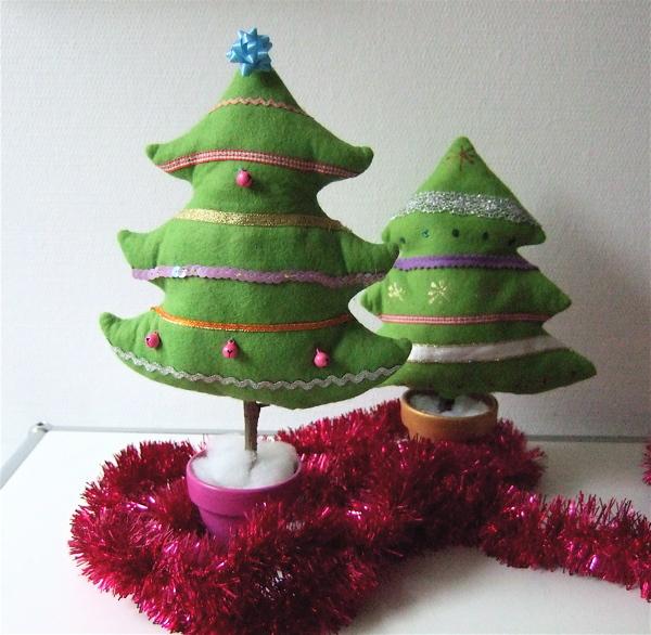 be pretty by beate weihnachtsb umchen aus filz. Black Bedroom Furniture Sets. Home Design Ideas