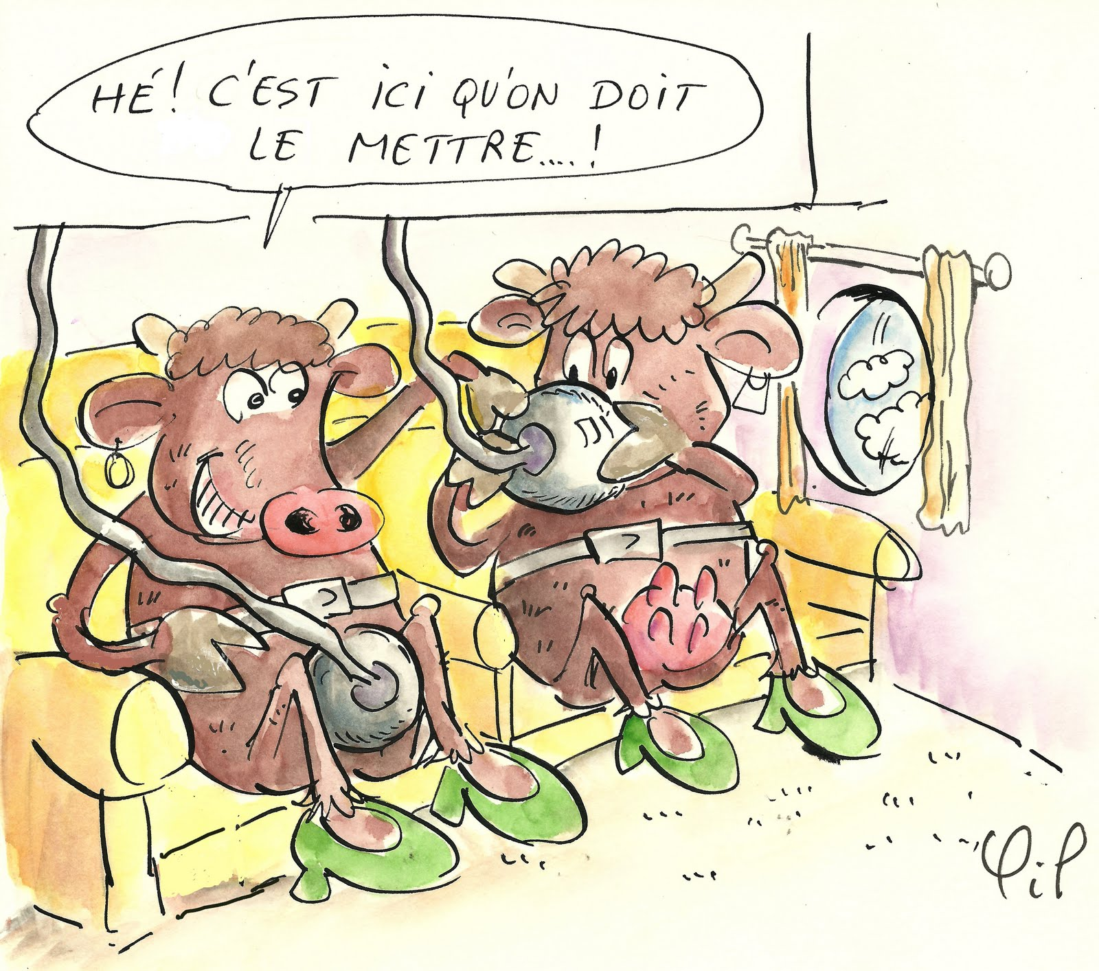La mouche ducoche des vaches en voyage - Vache dessin humour ...