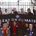 Keystone XL protest at the White House, February 13.