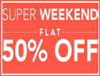 Jabong: Super Weekend Get Flat 50% or More off on clothings with Extra 30% off