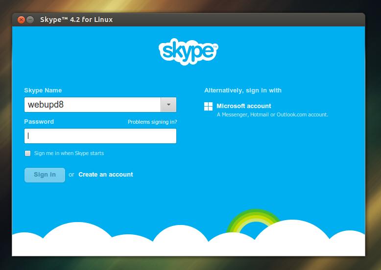 Чтобы начать процесс регистрации нажмите зеленую кнопочку wwwskypecom