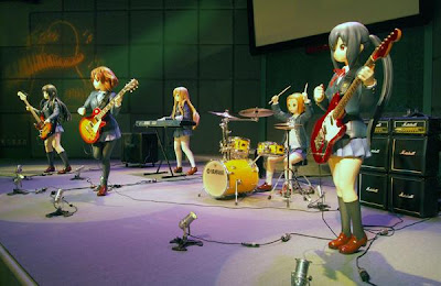 K-ON! Houkago Tea Time a escala real Universal Studios Japan