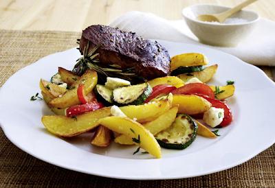 la dieta di patate fritte: verdure bistecca con patate al rosmarino-perdere 4 chili in una settimana