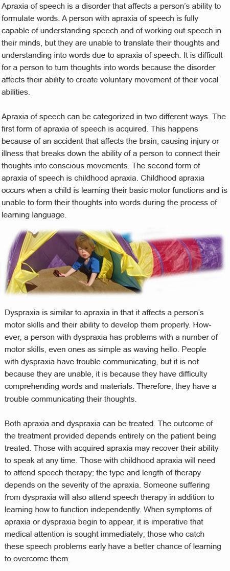 Dyspraxia vs apraxia