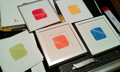 Bright Wave Screen Prints