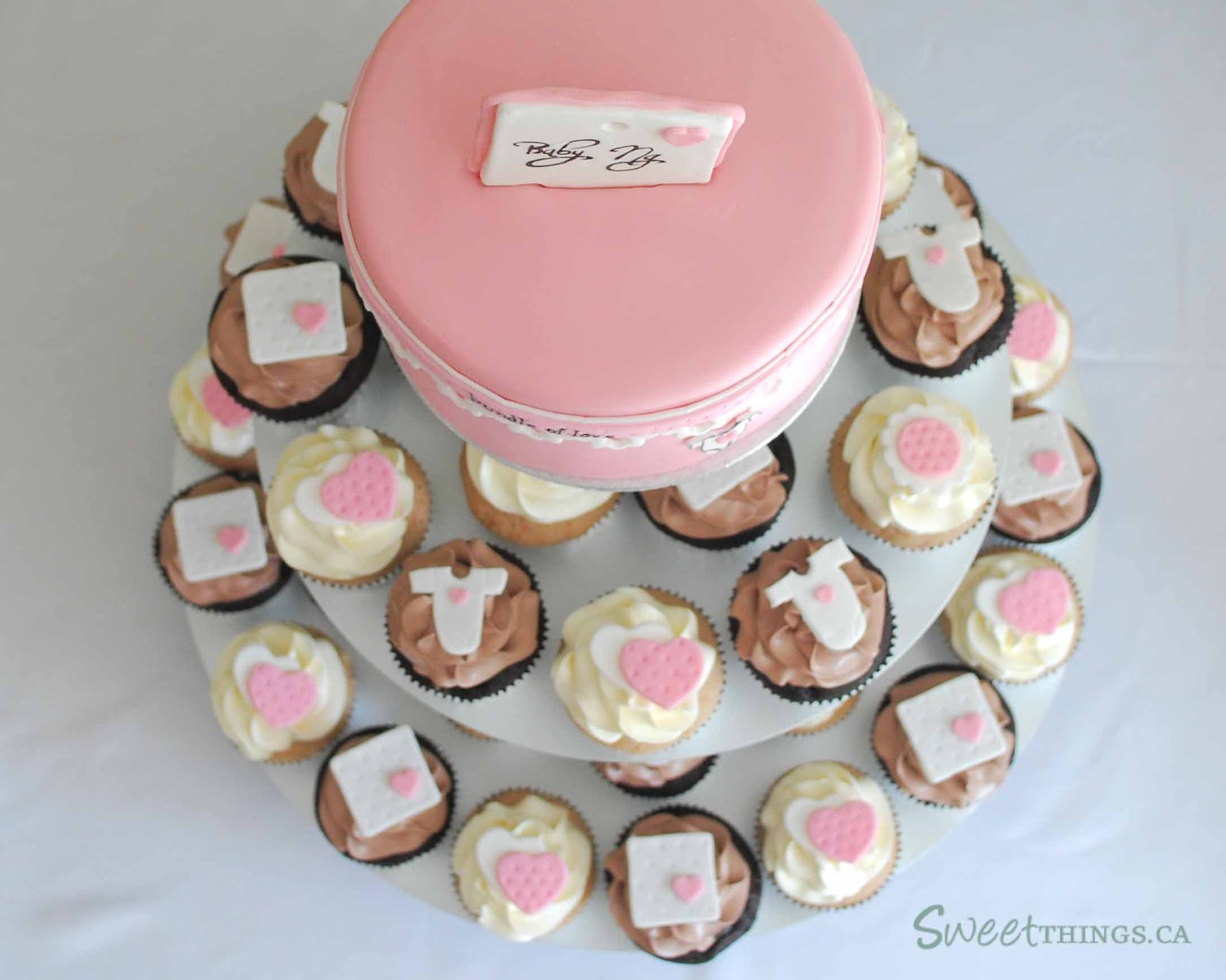 SweetThings Baby Shower Cupcake Tower