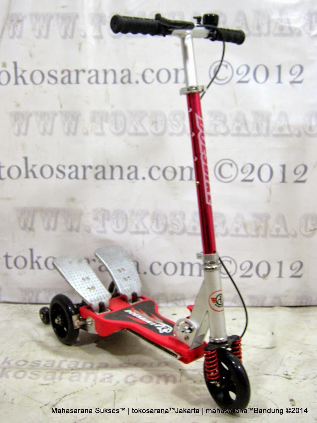 ... Bandung: Skuter Dual Pedal DoesBike S392 Musik Angry Bird dan Lampu