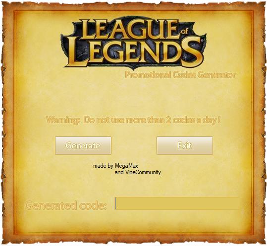 League of Legends Hacks - Free RP Codes,.