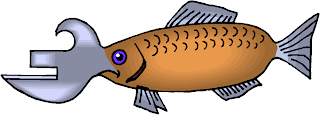 Can Opener Mouth Fish Fantasy Clipart