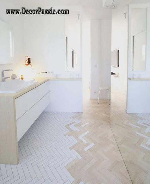 combination flooring, unique and creative flooring ideas for restaurant