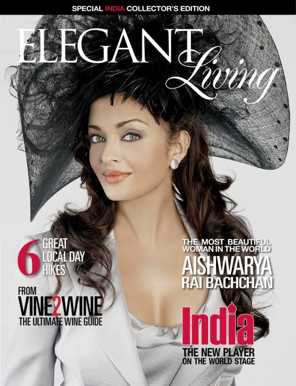 Aishwarya Rai on Elegant Living  cover1 - Aishwarya Rai Bachchan on the cover of Elegant Living
