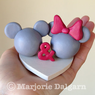 Mickey and Minnie Wedding Cake Topper | livingwiththreemoonbabies.blogspot.com