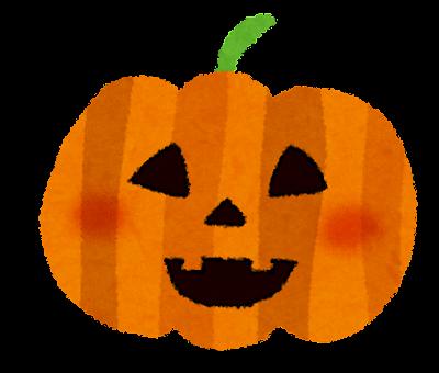 ハロウィンのイラスト「かぼちゃのランタン1」
