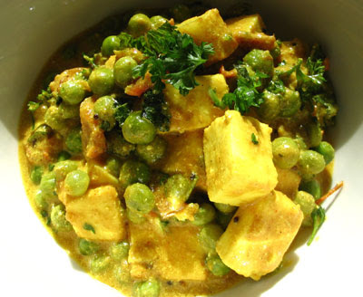 mattar paneer