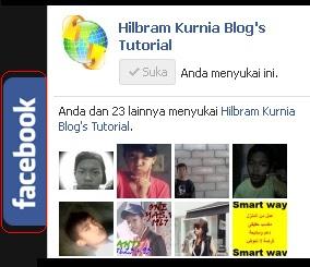 Cara Membuat Like Box Facebook Tersembunyi di Sisi Blog