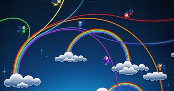 Photoshop WallpaperTutorials Animated Rainbow Wallpaper
