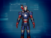 IRON PATRIOT FREE PAPERCRAFT by rgatt.blogspot.com (iron patriot free ppcraft by rgatt stampa )