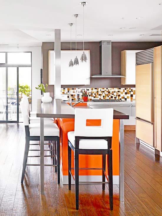 new home interior design colorful kitchen islands