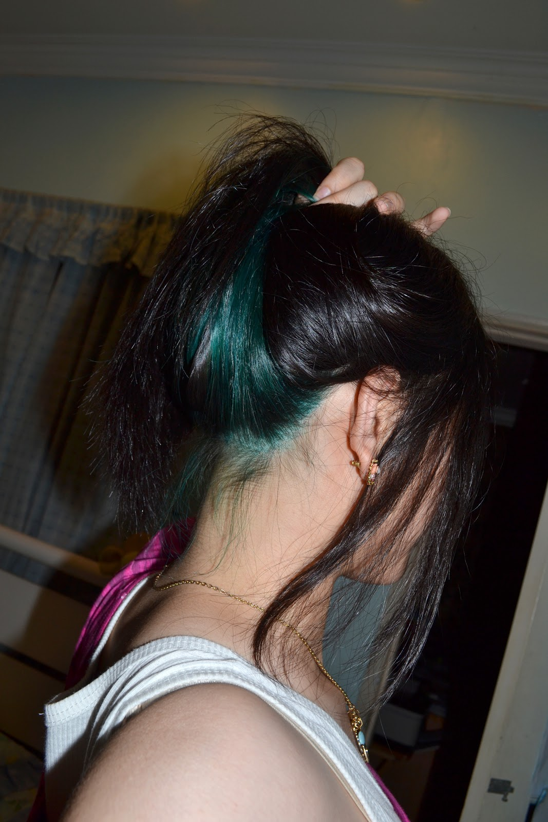 Turquoise Green Hair