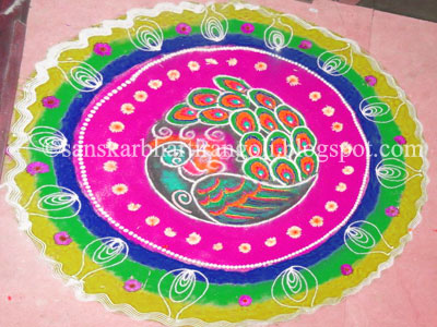 New Beautiful Collection of Peacock Rangoli Designs ...