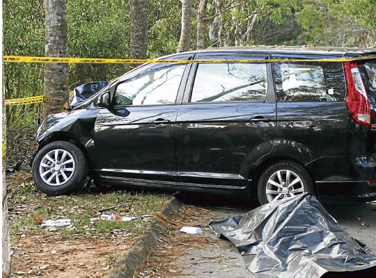 guru maut kemalangan katak dalam kereta