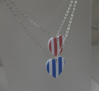 Maggie Angus heart necklaces