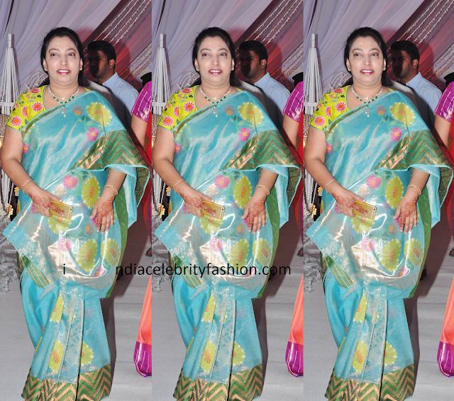 South Celebrity in Chanderi Silk Tissue Saree
