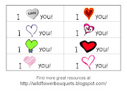 Notes that say I love you (love you with hearts)