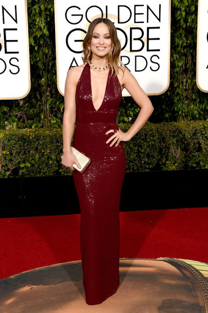 Olivia Wilde Micheal Kors Collection Golden Globes 2016
