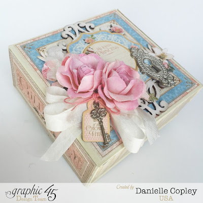 Scrapbook Maven Boxed mini album using Gilded Lily by Graphic 45
