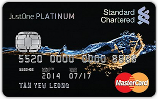 Standard Chartered JustOne Platinum MasterCard Credit Cards