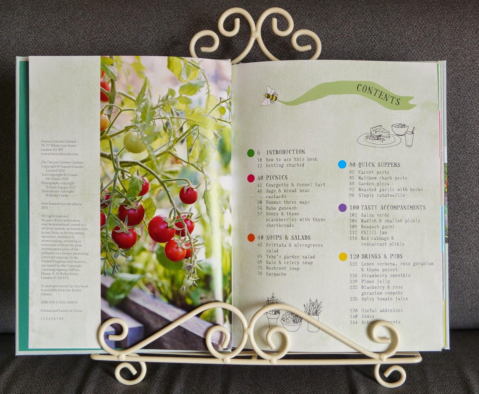'the one-pot gourmet gardener' book (2) ~ growourown.blogspot.com