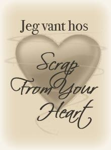"Jeg vant hos ""Scrap from you heart"" !"