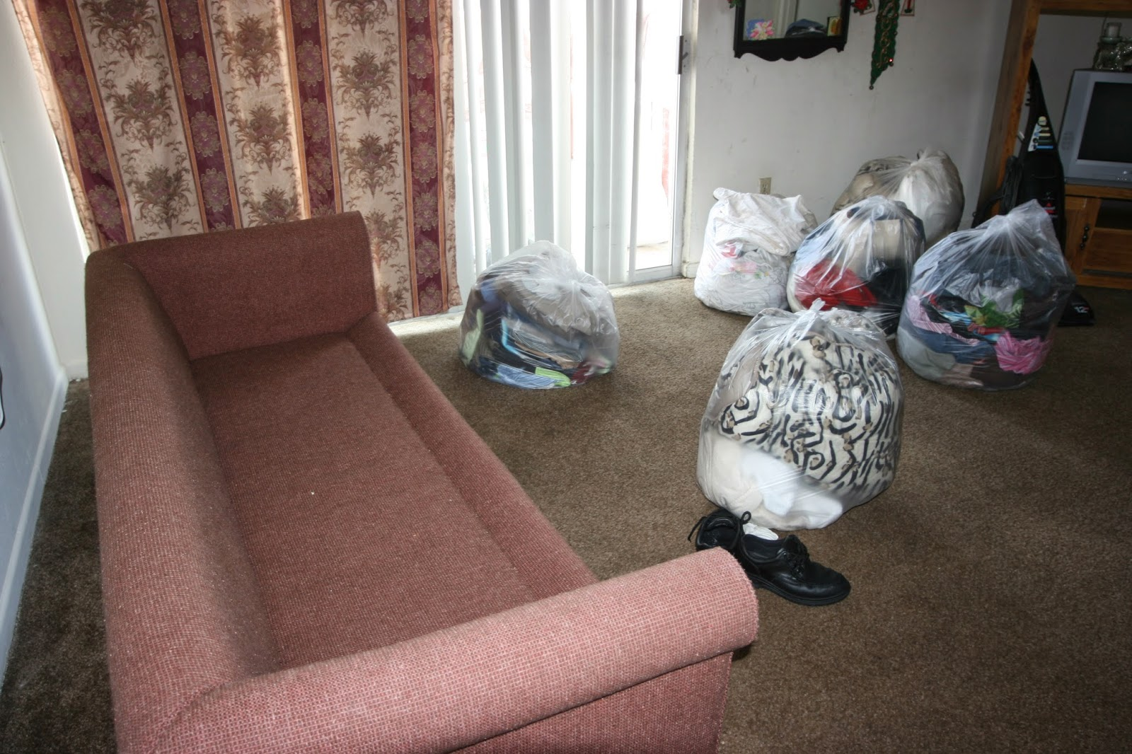 Bagged Items Following An Insecticide Treatment For Bed Bugs.