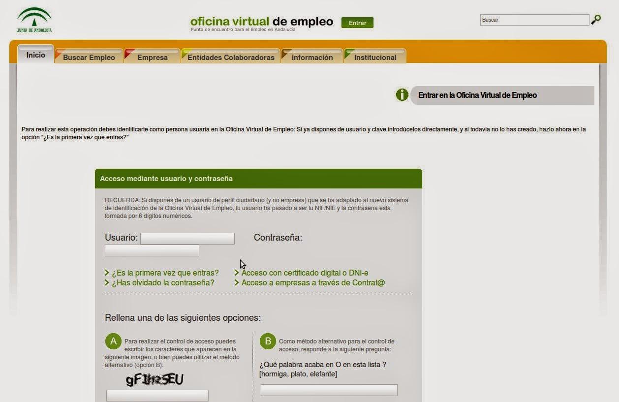 Guadaljob for Sae oficina virtual renovar demanda