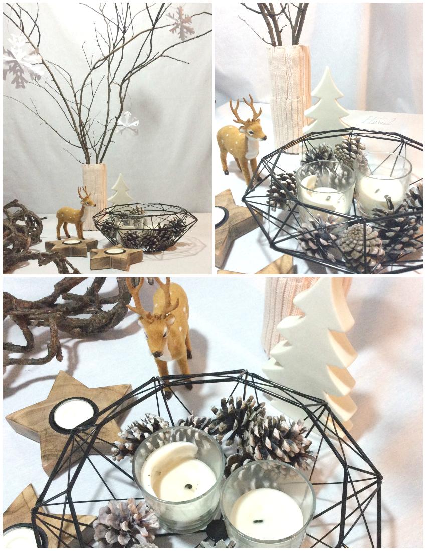 Deco navideña con centro de mesa handmade by Habitan2