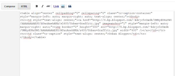Mode HTML untuk melihat URL gambar