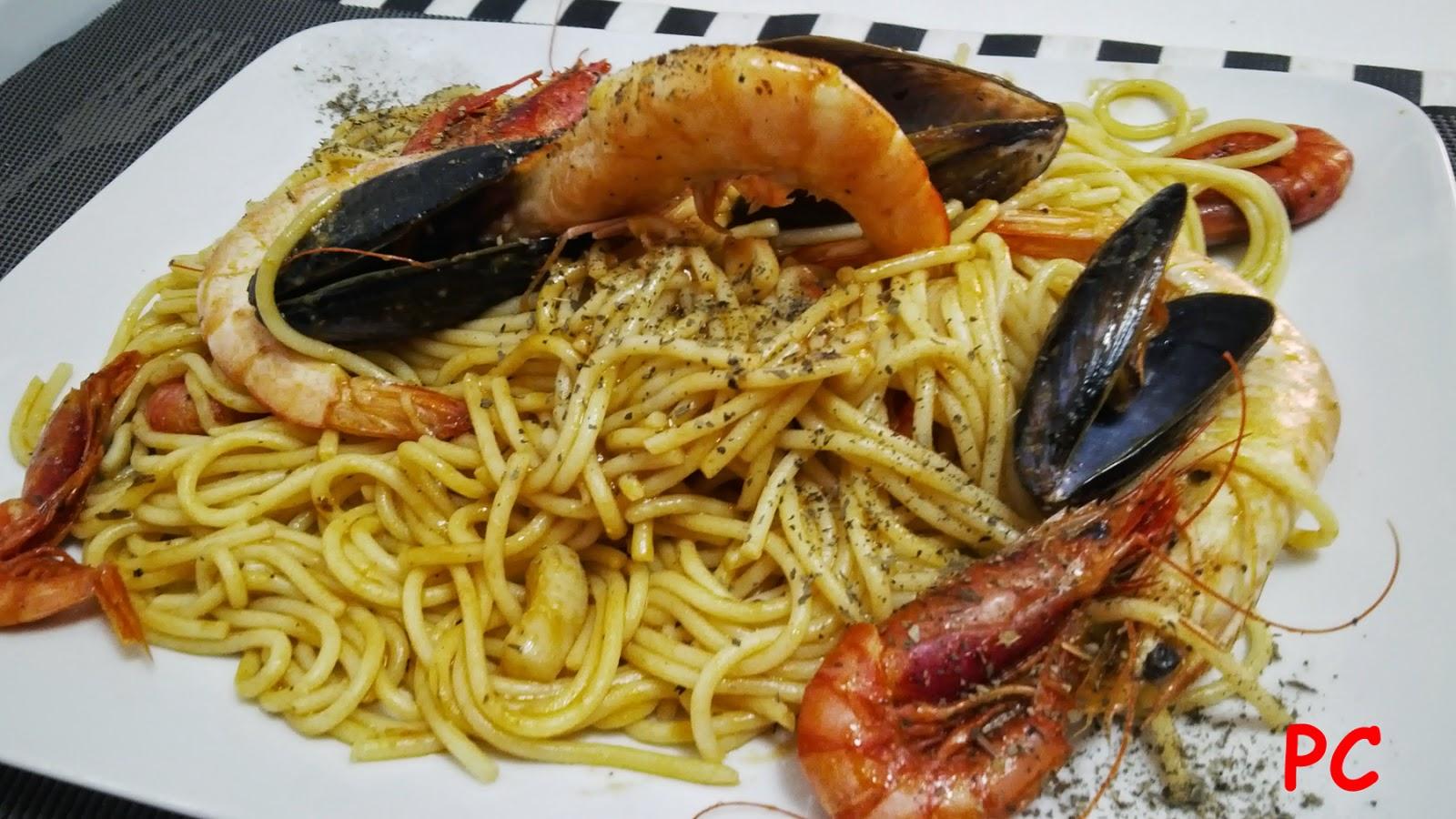 Nuestros placeres en la cocina espaguetis con frutos de for Espaguetis para dos