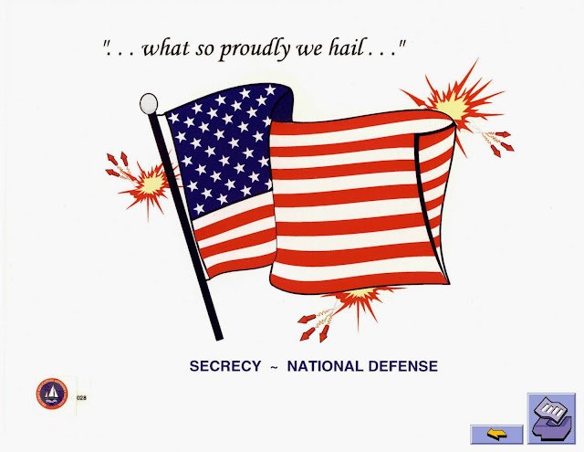 American flag security poster