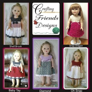 Crafting Friends Designs Doll Dresses