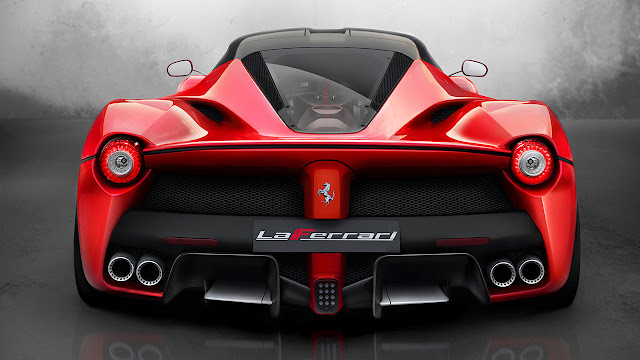 The Ferrari Laferrari rear