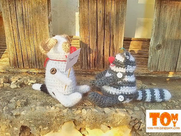 Crochet mini fat cat