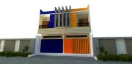 desain ruko 2 lantai model kembar/sama minimalis
