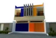 Desain Ruko 2 Lantai Model Kembar/Sama Minimalis Melankolis
